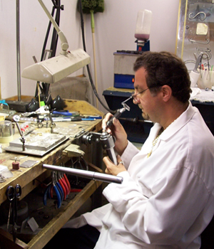 dan working at pats II jewelers